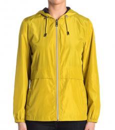 Vince Camuto Yellow Short Windbreaker Jacket