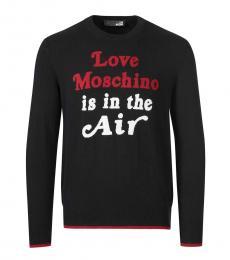 Love Moschino Black Logo Knitted Sweater