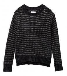 BCBGirls Girls Black Striped Knit Sweater