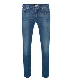 Blue Straight Cut Jeans