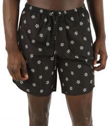 Neil Barrett Black Printed Boxer Swimsuit