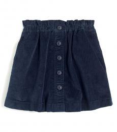 Little Girls Navy Corduroy Skirt