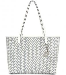DKNY White Gemma Large Tote