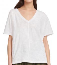 DKNY White Short Sleeve Front Tee