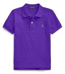 Ralph Lauren Little Boys Chalet Purple Mesh Polo