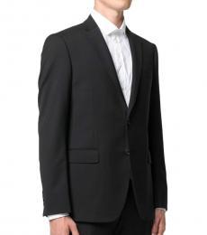 Emporio Armani Black Single-Breasted Two-Piece Suit