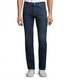 7 For All Mankind Navy Blue Slimmy Straight-Leg Jeans