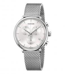 Calvin Klein Silver High Noon Chronograph Watch