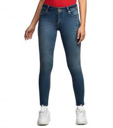 True Religion Blue Jennie Curvy Skinny Fit Stretch Jeans