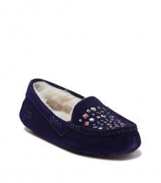 UGG Blue Ansley Studded Loafers