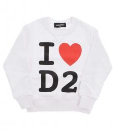 Dsquared2 Boys White Crewneck Sweatshirt