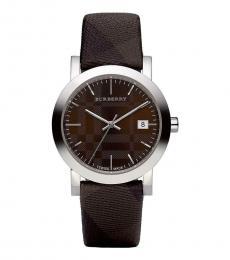 Brown Check Strap Watch