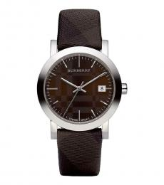 Burberry Brown Check Strap Watch