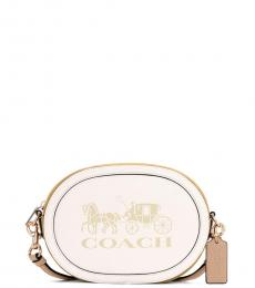 Coach White Horse And Carriage Small Crossbody Bag