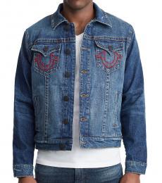 True Religion Indigo Embroidered Denim Jacket