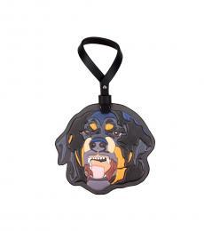 Givenchy Multi color Rottweiler Embossed Keyring