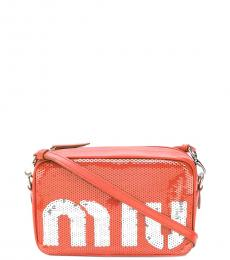 Red Sequins Camera Small Crossbody