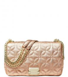 Rose Gold Sloan Medium Shoulder Bag