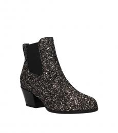 Gold Glitter Ankle Boots