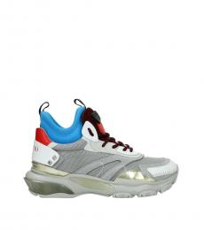 Valentino Garavani Grey Logo Sporty Sneakers