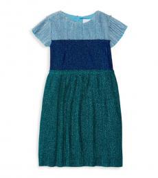 BCBGirls Little Girls Blue Colorblock Pleated Dress