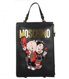 Moschino Black Looney Tunes Medium Tote