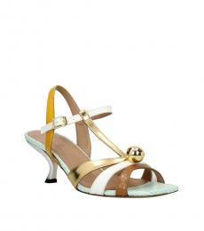 Multicolor Leather Heels