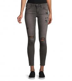 AG Adriano Goldschmied Faded Black Super-Skinny Distressed Jeans