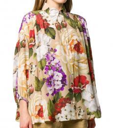 Dolce & Gabbana Multi color Floral Print Shirt