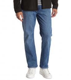 True Religion Blue Ricky No Flap Straight Leg Jeans