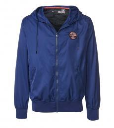 Love Moschino Navy Blue Regular Fit Jacket