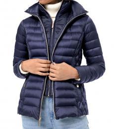 Michael Kors Navy Blue Packable Puffer Jacket