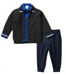 Calvin Klein 4 Piece Sweater/Shirt/Pants/Bow Tie Set (Little Boys)