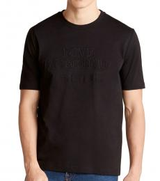 Black Embroidered Logo T-Shirt