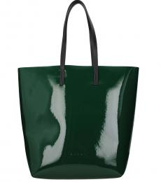 Marni Green Patent Leather Large Tote