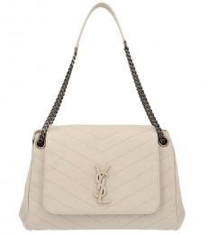 Saint Laurent White Nolita Large Shoulder Bag