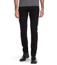 7 For All Mankind Black Paxtyn Solid Skinny Jeans
