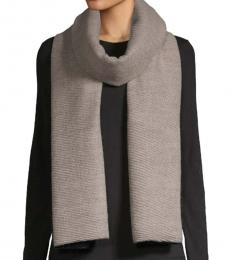 Calvin Klein Heathered Almond Pleated Double-Faced Blanket Scarf