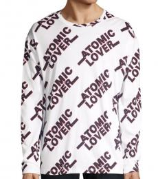 White Atomic Lover Graphic Pullover