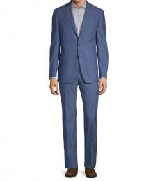 Michael Kors Bright Blue Slim-Fit Classic Wool Suit