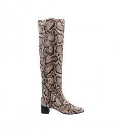 Giuseppe Zanotti Snake Print Mascolina Tall Boots