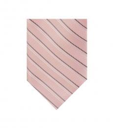 Michael Kors Pink Essential Satin Stripe Tie