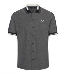 Fred Perry Grey Short Sleeve Logo Shirt