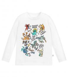 Stella McCartney Little Boys White Dragon T-Shirt