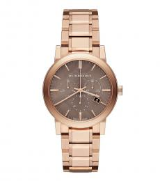 Burberry Rose Gold Chronograph Dial Watch