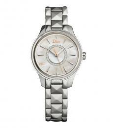 Christian Dior Silver Diamond Watch