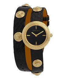Versace Black Medusa Stud Icon Watch