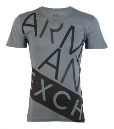 Armani Exchange Dark Grey Slim Fit Logo T-Shirt