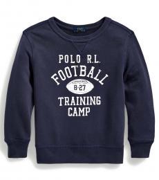 Ralph Lauren Little Boys Sea Blue French Terry Sweatshirt