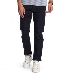 Navy Blue Slim Straight Jeans